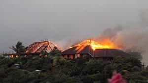 brandend huis