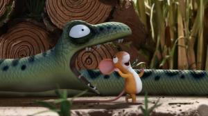 muis en slang