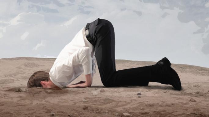 kop in het zand